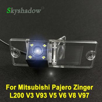 Samochód CCD Night Vision Backup kamera tylna wodoodporna pomoc parkingowa dla Mitsubishi Pajero Zinger L200 V3 V93 V5 V6 V8 V97 tanie i dobre opinie SKYSHADOW Plastikowe + Szkło wireless Drutu Tył ACCESSORIES Z przodu Front Side Pojazd backup kamery Z tworzywa sztucznego