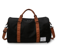 Urban Commuter Large Travel Bag Trendy Canvas Gym Bag Sports Bag with Shoes Compartment Mutilfuctional Tote Duffle for Unisex цена 2017