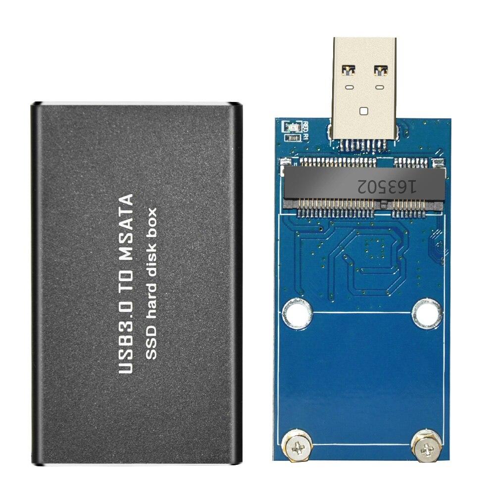 USB 3.0 para MSATA SSD Disco Rígido Caixa de Disco Rígido Externo Caso