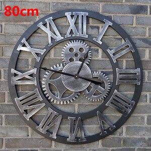 Большие настенные часы 80 см, 3d-часы, деревянные настенные часы Duvar Saati, Reloj Parede Horloge Murale, домашний декор