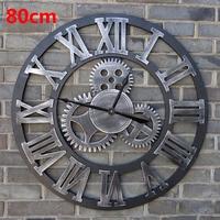 80 см большие настенные часы Saat 3d gear часы деревянные duvar saati настенные часы Reloj сравнению настенные часы Horloge Мураль домашний декор