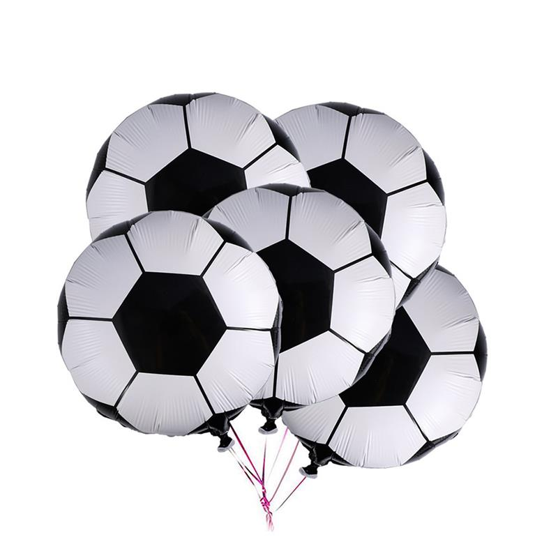 10 Pcs 18 Inch Soccer Balloons Aluminum Foil Membrane Airballoon Birthday Party Decoration For 2018 Word Cup Russia Fans Supply