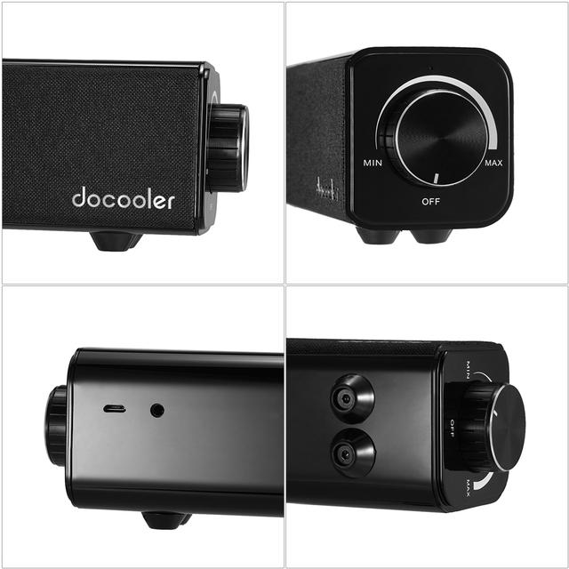 Docooler Bluetooth Super Bass 20W Dual Drivers Loudspeaker