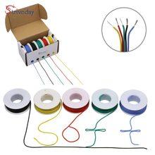Câble de fil électrique Flexible en cuivre, 18AWG, 25 mètres, ligne de fil électrique en cuivre, 5 couleurs, boîte mixte, 1 boîte 2 paquets