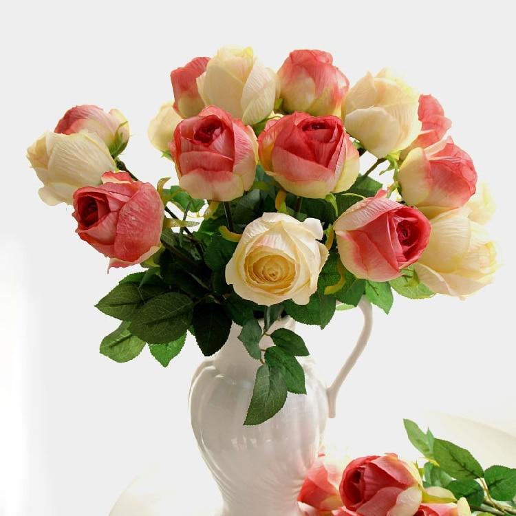 캘리포니아 인공 실크 공예 꽃 결혼식에 대한 진짜 터치 꽃 크리스마스 룸 Decoration6 색상 파격 세일.