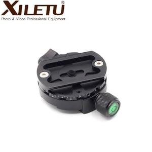 Image 5 - XILETU XPC 60C 360 درجة بانورامية المشبك سبائك الألومنيوم محول الإفراج السريع لوحة ترايبود DSLR التصوير الملحقات