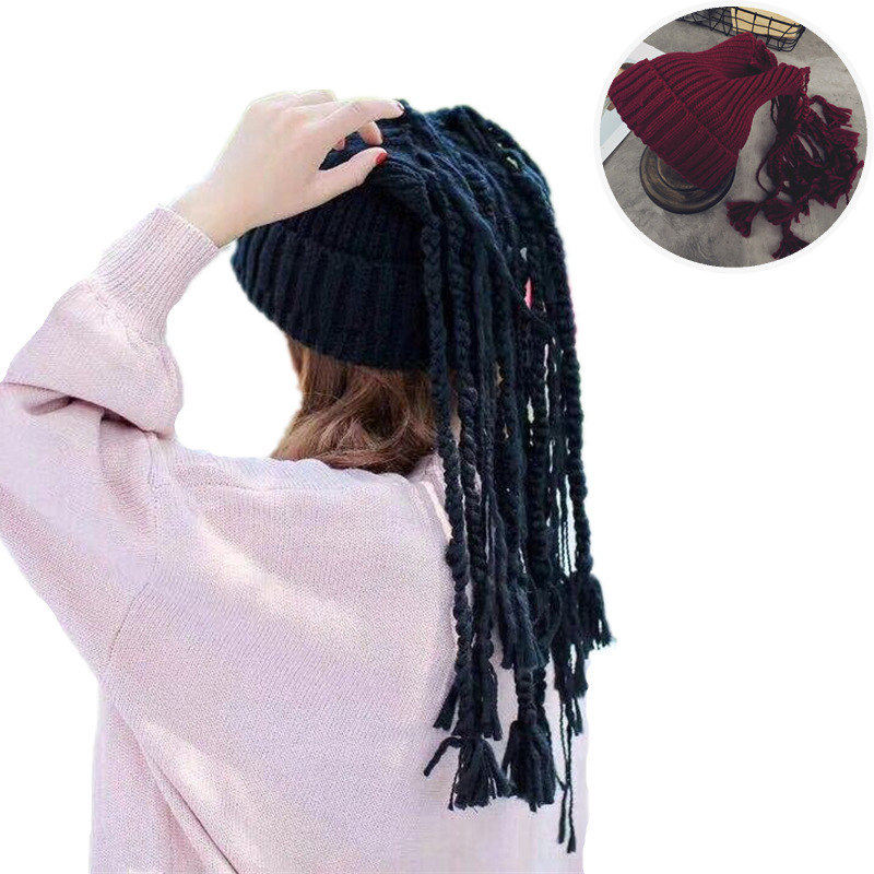 2017 New Novelty Jamaican Knitted Wig Braid Beanies Hat