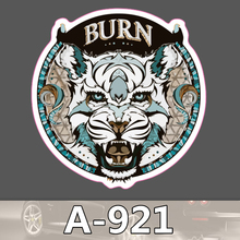A-921 Brennen Weiß Tiger Wasserdicht Mode Kühle DIY Aufkleber Für Laptop Gepäck Skateboard Kühlschrank Auto Graffiti Cartoon Aufkleber