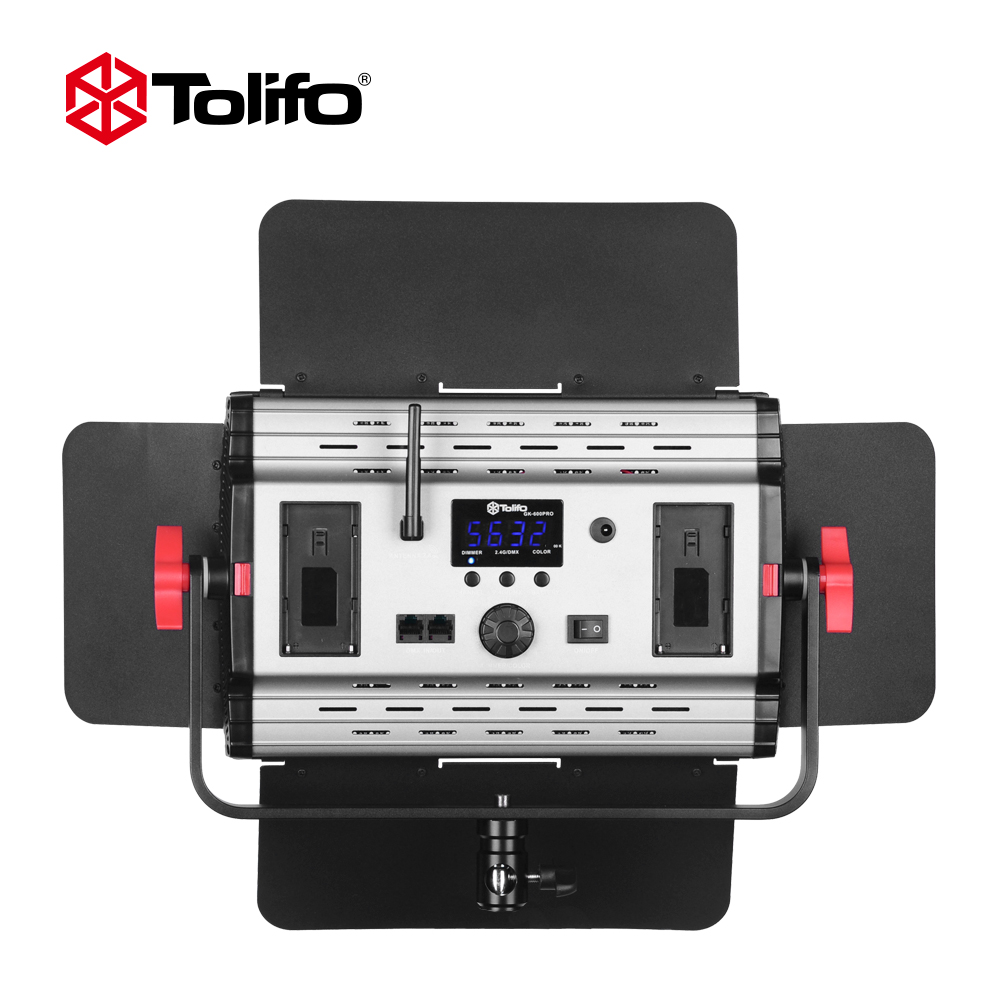 Tolifo GK900S Pro 5600K/3200K High Quality Wireless Remote Control LED Studio Light for Outdoor Photography and News Interview keyshare dual bulb night vision led light kit for remote control drones