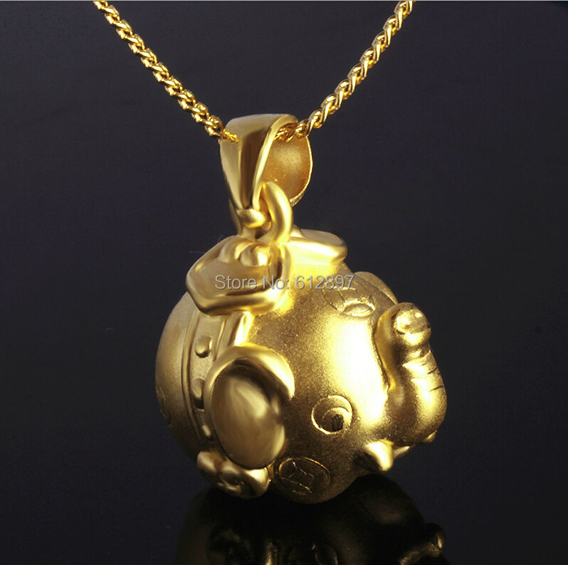 999 24k Yellow Gold Pendant/ 3D Carved Lucky Elephant Pendant/ 2.88g999 24k Yellow Gold Pendant/ 3D Carved Lucky Elephant Pendant/ 2.88g