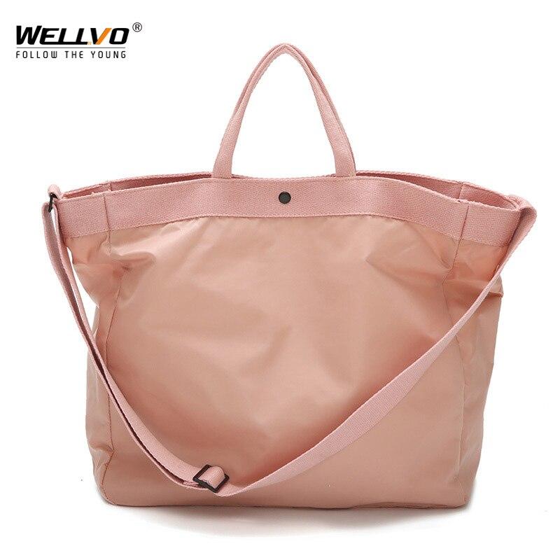 Wellvo Nylon Travel Bags Large Capacity Women Hand Luggage Travel Duffle Bag Weekend Bags Men Big Luggage Totes Bag XA45ZC