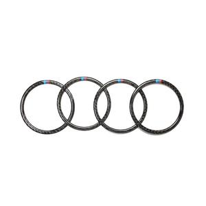 Image 5 - BMW X5 X6 F15 F16 2014 2015 2016 2017 2018 자동차 리얼 카본 파이버 도어 오디오 스피커 링 스티커 라우드 스피커 커버