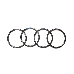 Image 5 - Para BMW X5 X6 F15 F16 2014 2015 2016 2017 2018 Puerta de fibra de carbono Real Audio altavoz anillo pegatina altavoz cubierta