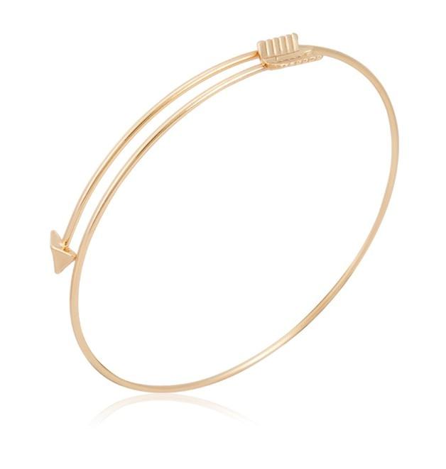 New Fashion Gold Silver Arrow Bangle Bracelet For Women Fine Jewelry Wholesale 8389