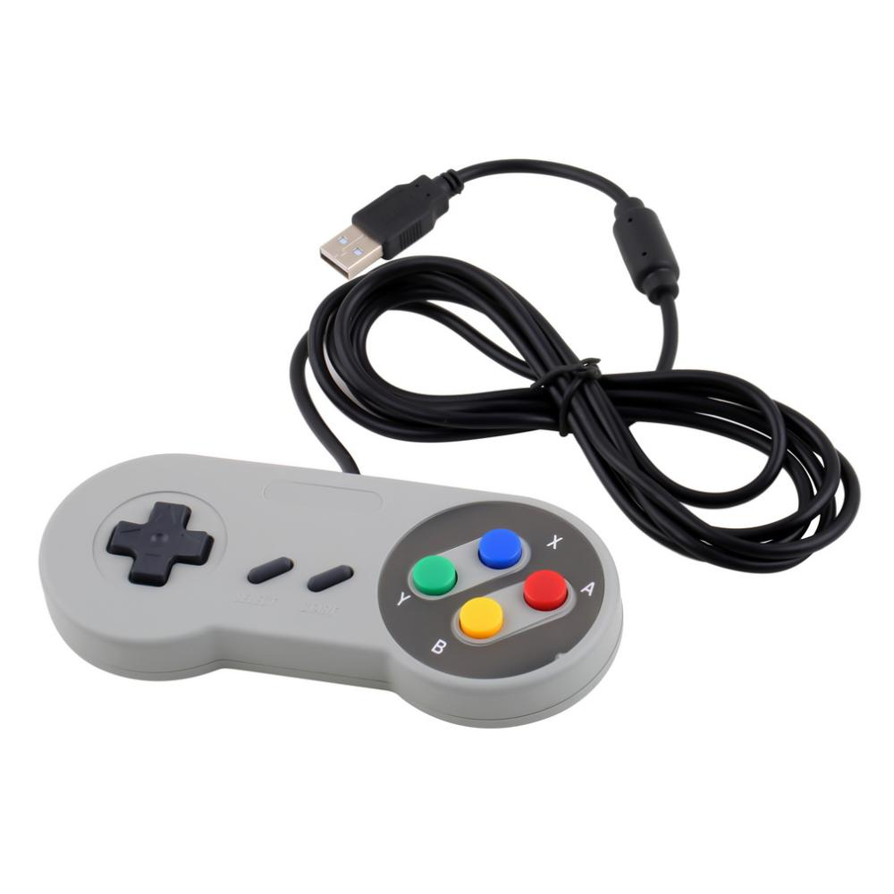 1pcs Super For Nintendo SF SNES PC Controller Gamepad Joypad USB For Windows For Mac Hot