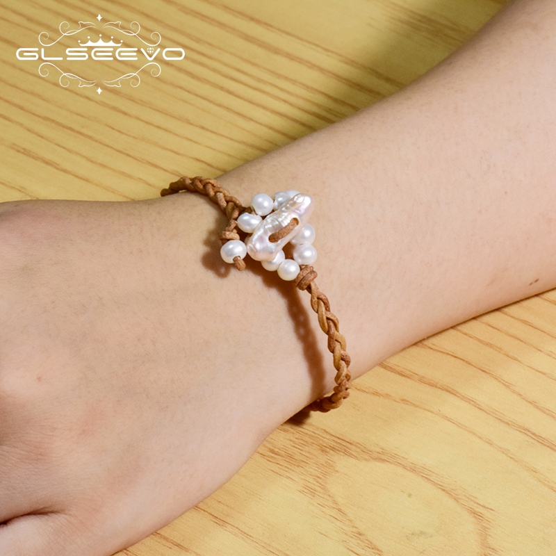 Купить женский кожаный браслет glseevo роскошные ювелирные изделия