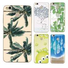 Leaf Soft Clear TPU Phone Case For xiaomi redmi 4x 4a note5a note4x 5s 5s mi6 note3 Deer Printed Shell Bags Cover Free Shipping(China)