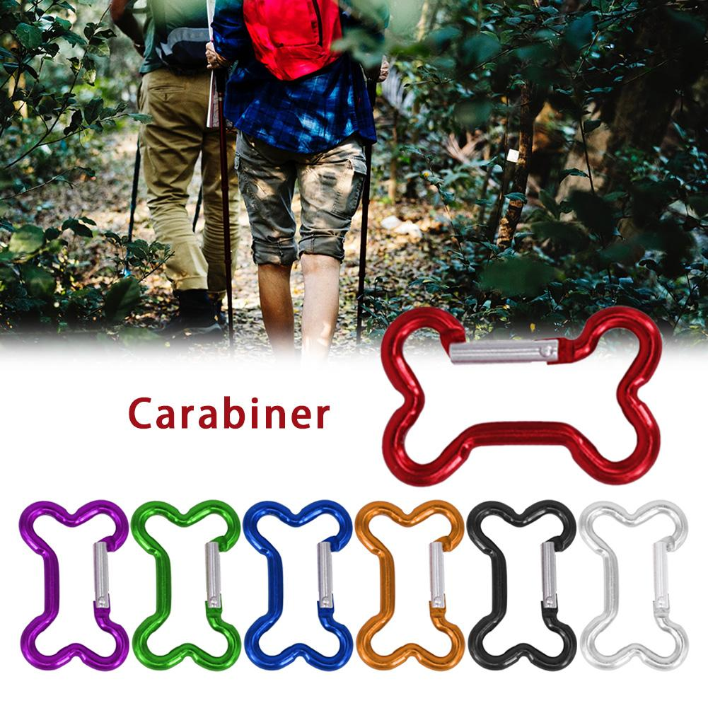 10PCS Bone Type Carabiner Aluminum Alloy Key Chain Backpack Water Bottle Buckle Outdoor Travel Crarabiner Climbing Accessories
