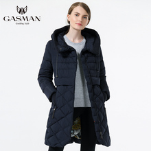 GASMAN 2018 Women Jackets Winter Coat Jacket Brand Fashion Down Parka Slim Hooded Coats And For Long