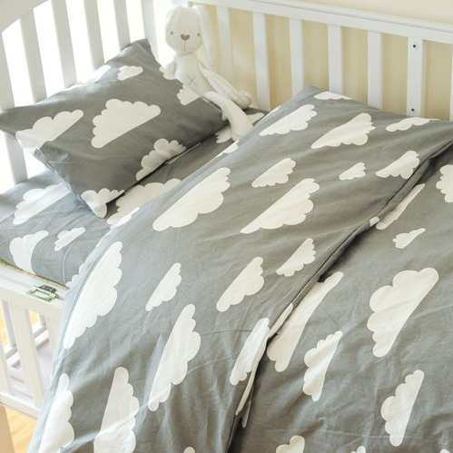 12060cm 13070cm cute baby crib bedding set 100 cotton included flat sheets baby bedding clouds pine crown pattern for girlsin underwear from mother