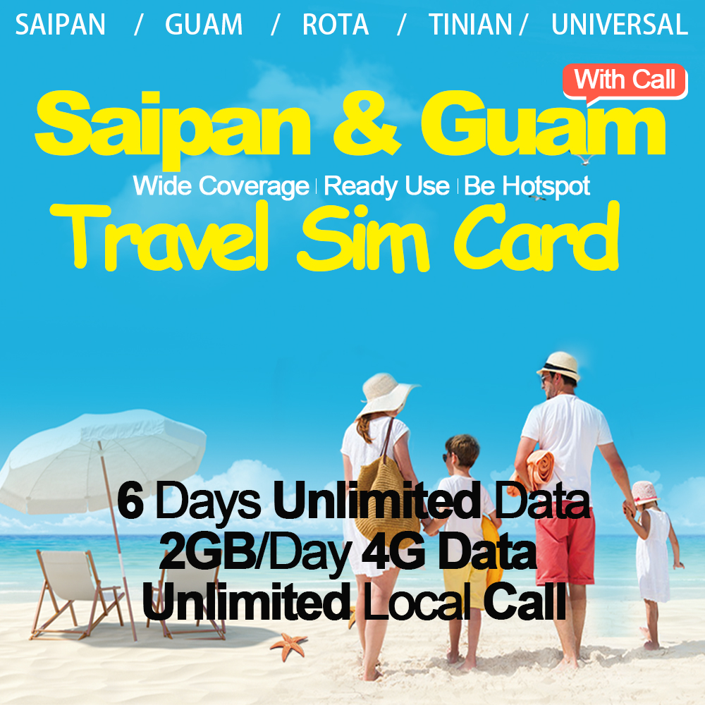 Mewfi 6 Days Saipan Guam Rota Tinian Travel Sim Card Unlimited Data & Local Call 2GB/Day 4G Data IT&E Network Sim Card PrepaidMewfi 6 Days Saipan Guam Rota Tinian Travel Sim Card Unlimited Data & Local Call 2GB/Day 4G Data IT&E Network Sim Card Prepaid