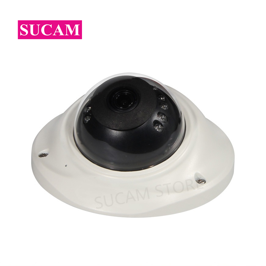 SUCAM 3.6mm 4MP Mini Security Camera AHD OV4689 Vandalproof White Metal Dome CCTV Video Surveillance Cameras 20M Night Vision sucam 2mp 4mp dome h265 ip cctv camera home indoor 20m night vision security p2p onvif surveillance cameras with 6 led lights