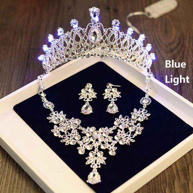 Mädchen Geburtstag Party Licht Tiara Krone Halskette Ohrringe ...