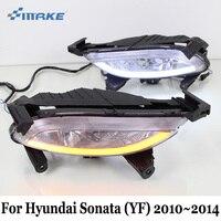SMRKE DRL For Hyundai Sonata 8 YF 2010 2014 Car LED Daytime Running Lights With Fog