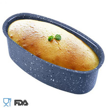 Cake Pans Bread Loaf Pans Nonstick Bakeware Muffin Cake Molds Baking Tool metal oval shape toast Mould cake tools BM-019