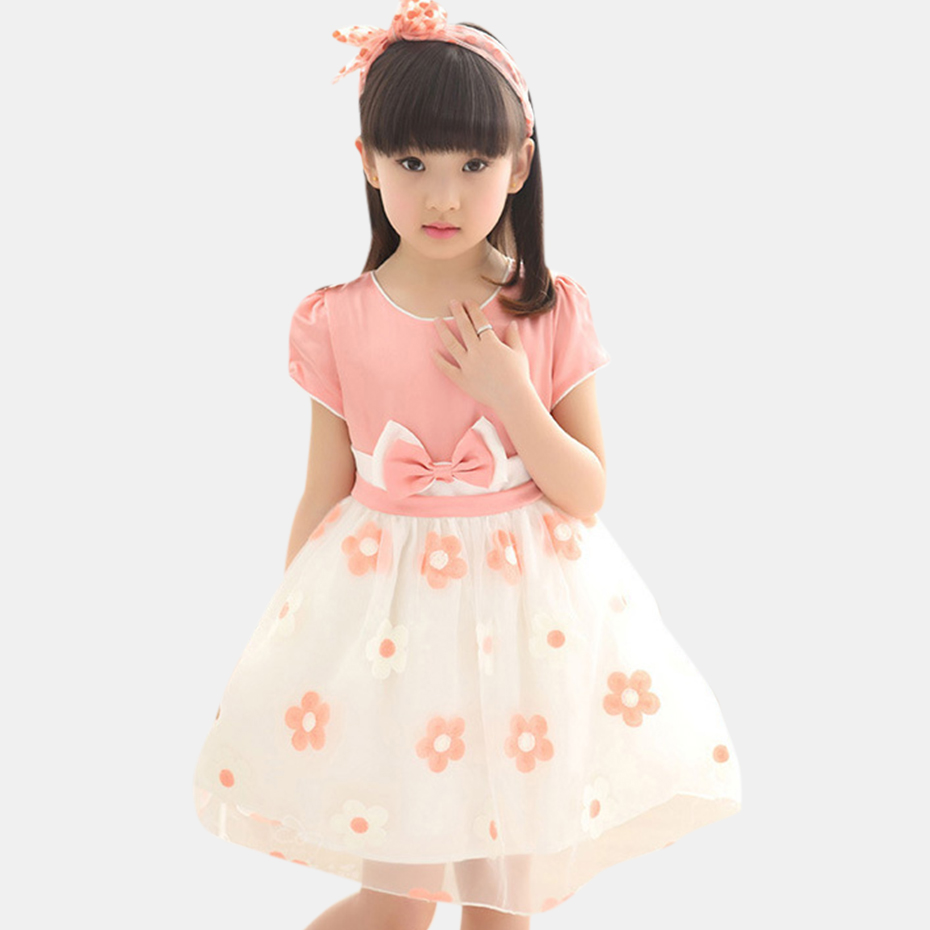 Princess Gown For Ladies Floral Ladies Gown Mesh Children Garments Bow Gown Little one Summer time Teen Woman Clothes four 6 8 12 Years Spring