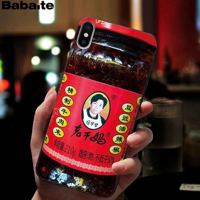 Babaite Chinesischen Laoganma Weiß kaninchen toffee Schwarz TPU Weichen Telefon Fall für iPhone 8 7 6 6S Plus 5 5S SE XR X XS MAX Coque Shell
