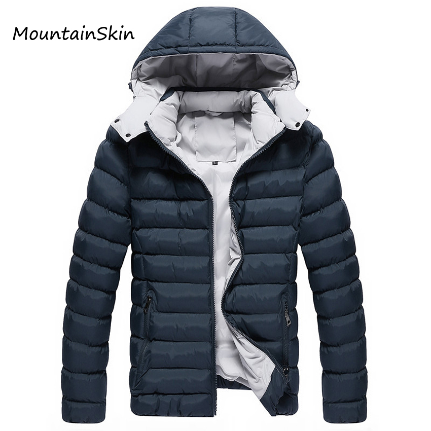 Mountainskin Men Winter Jacket Hooded Men Parkas Casual Warm Male Hoodies Fashion Thick Thermal Coats Brand Clothing LA142 free shipping winter parkas men jacket new 2017 thick warm loose brand original male plus size m 5xl coats 80hfx