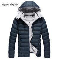 Mountainskin Men Winter Jacket Hooded Men Parkas Casual Warm Male Hoodies Fashion Thick Thermal Coats
