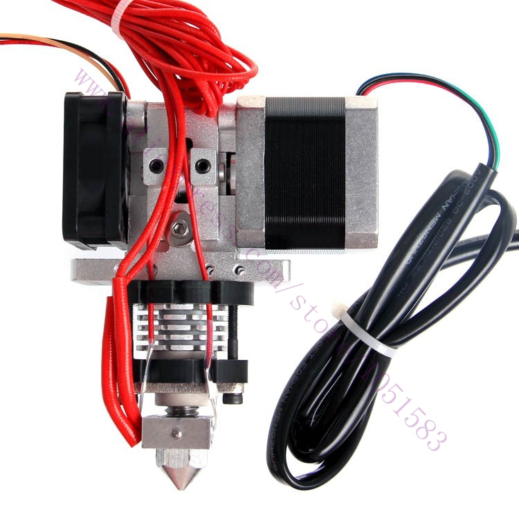 Hotend extruder V2.0 with stepper motor Nema17 3d printer RepRap Prusa Mendel ,1.75/ 3mm Filament ,0.3/0.4/0.5mm Nozzle Optional 3d printer accessory reprap j head mkiv mkv hotend nozzle wade bowden extruder for choice top quality free shipping