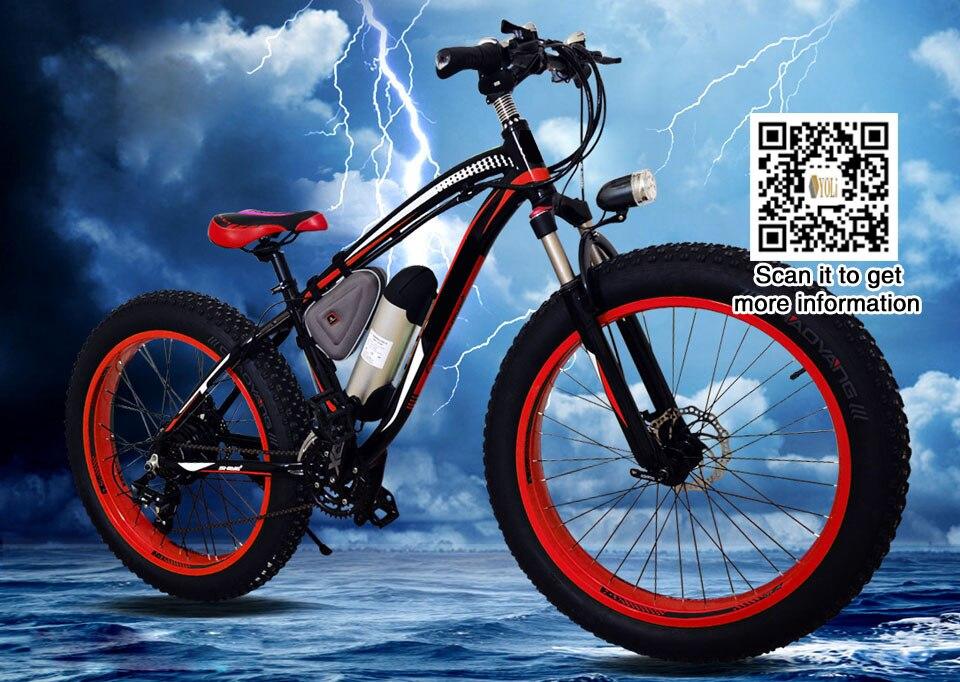 Nouvelle Neige Électrique Vélo 48 v 1000 w Vélo Électrique Avec 17Ah Batterie Au Lithium 21 Vitesse Électrique Vtt VTT ebike
