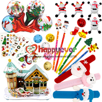 30PCS Christmas Toys Assortment For Kids Party Favors Giveaways Rewards Christmas Gift Temporary Tattoos 3D Puzzle
