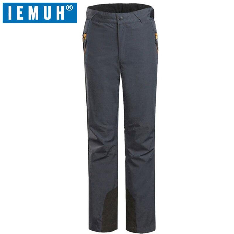 Pantalon de Ski de marque IEMUH femme amovible Sport imperméable thermique pantalon de Ski hiver neige pantalons de plein air Camping randonnée pantalon