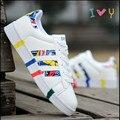 Nueva lona de los hombres respirables del verano y la temporada de primavera de Corea Del Sur zapatos de moda zapatos casuales zapatos de la marea baja de jóvenes estudiantes