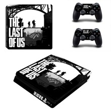 the last of us Design Vinyl PS4 Slim Sticker for Sony Playstation 4 Slim Console+2PCS Skin Decal Controller Stickers