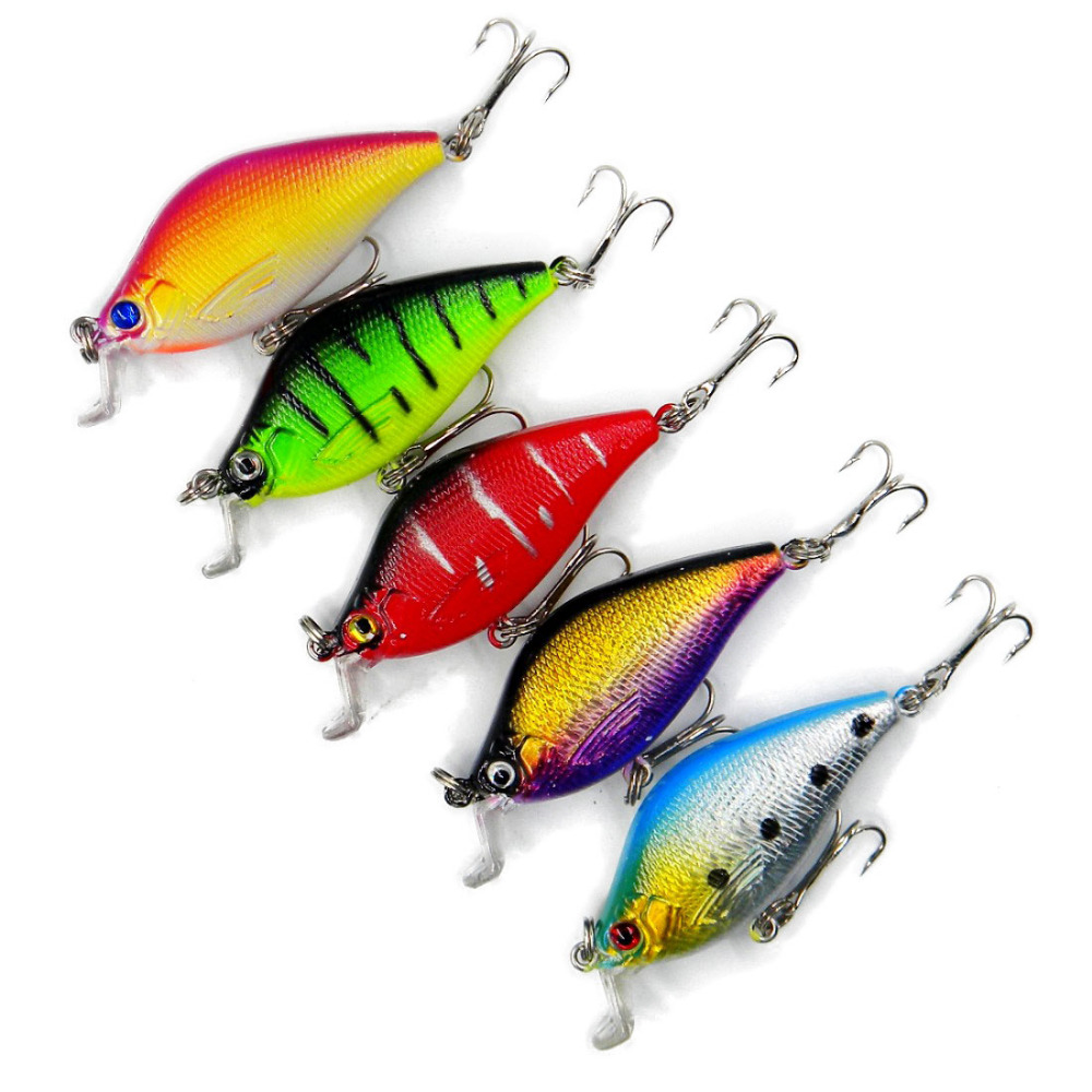 5 Pcs Lot Memancing Umpan 65cm 84g 8 Kait Vib Wobbler Ikan Pancing Minnow Lure 7 Cm 4g Isca Buatan Keras Swimbait