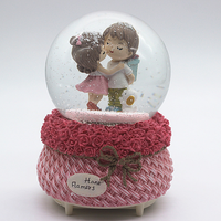 Large automatic snow lantern crystal ball music box music box valentine's day gift for girls and children LM01081506