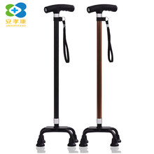 ANXIAOKANG Safe Reliable Old Man CrutchesTelescopic Lamp Aluminum Alloy Large Four-legged T-handle Cane Baston Hike for Elderly(China)
