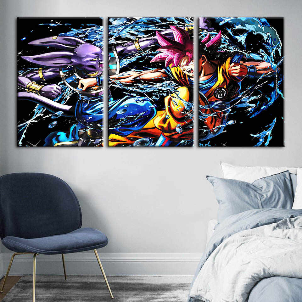 Canvas Wall Art HD Prints Dragon Ball Poster Animation Character Home Decoration Painting For Bedroom Modular Pictures Framework