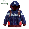 Boys Hoodies Captain America Children Jacket the Avengers Superhero Sweatshirt Spring Long Sleeve Coat Jacket for Kids Tracksuit