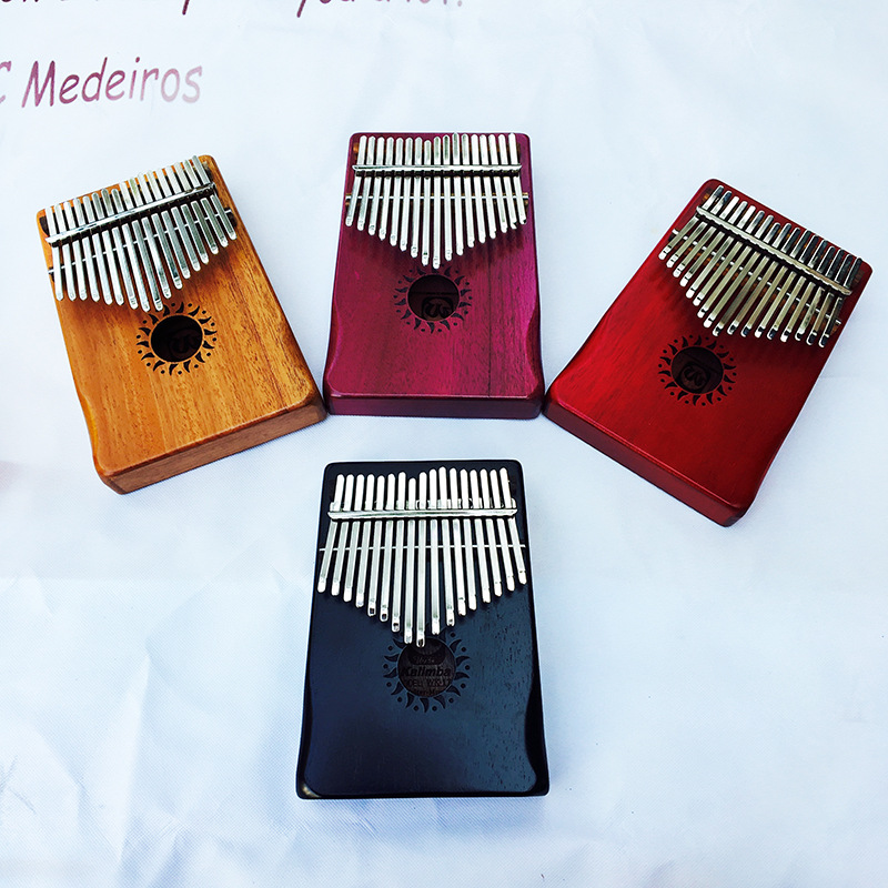 Kalimba Mbira Likembe Sanza Thumb Piano 17 Button Mahogany More Colors Give Related Accessories Simple Musical Instrument