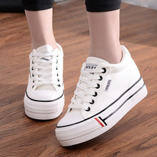 White Canvas Shoes Women Sneakers Red Off New Lace Up Casual Womens Woman Zapatos De Mujer