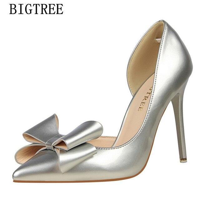 Butterfly-nodo scarpe da sposa donna In vernice pompe marchio di lusso del  progettista rosso cbeca8f4605