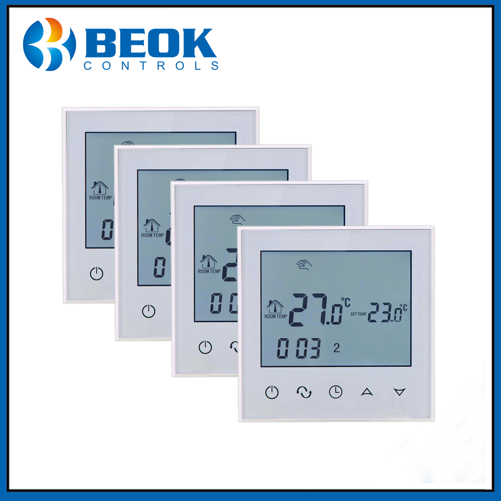 4PCS TDS21 EP Large LCD Touch Screen Room Underfloor Thermostat Smart Temperature Controller Thermoregulator