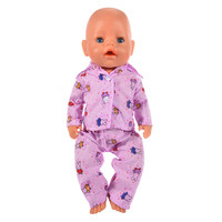 Doll Clothes Purple Rabbit Pajamas | Fits 18