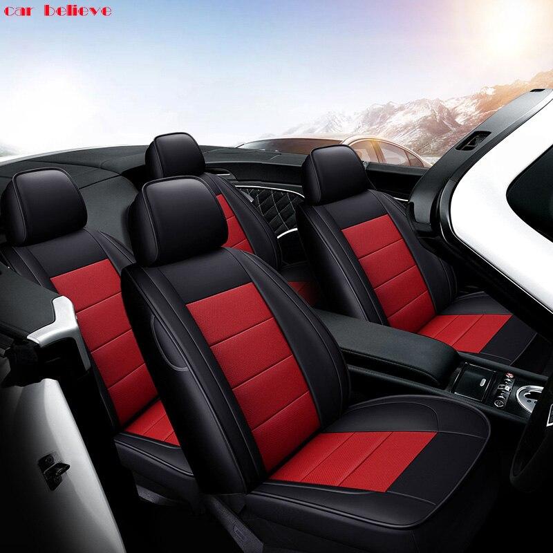 Car Believe Auto automobiles Cowhide leather Car seat cover For Infiniti Q50L QX50 ESQ Q70L QX60 Q60 QX70 Q50 Car accessories hand sewn leather cowhide steering wheel diy sticker cover for infiniti q50 qx50 ex35 jx qx60 q60 q70 g ex interior accessories